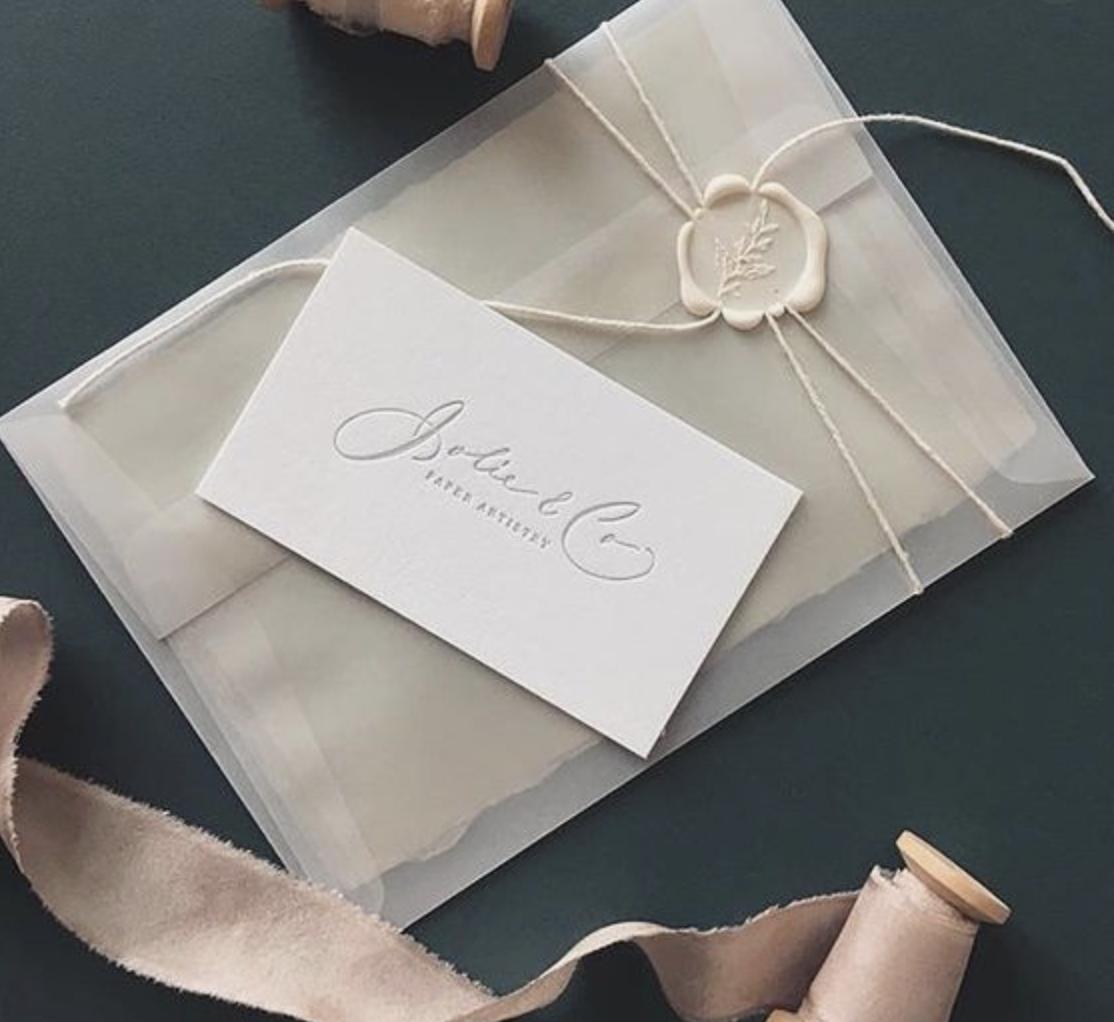 laksegl til bryllupsinvitation