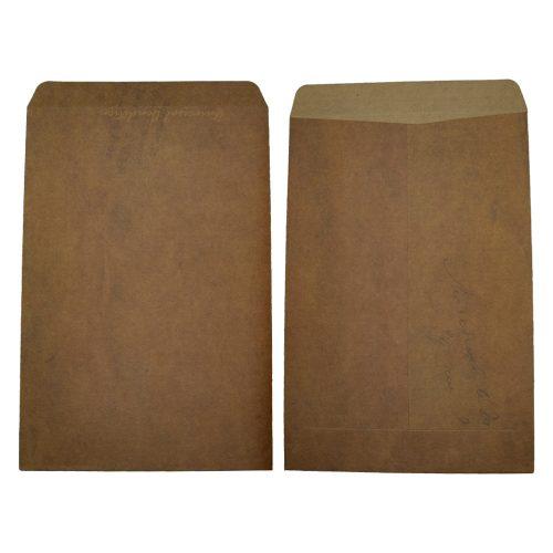 brun vintage konvolut med print